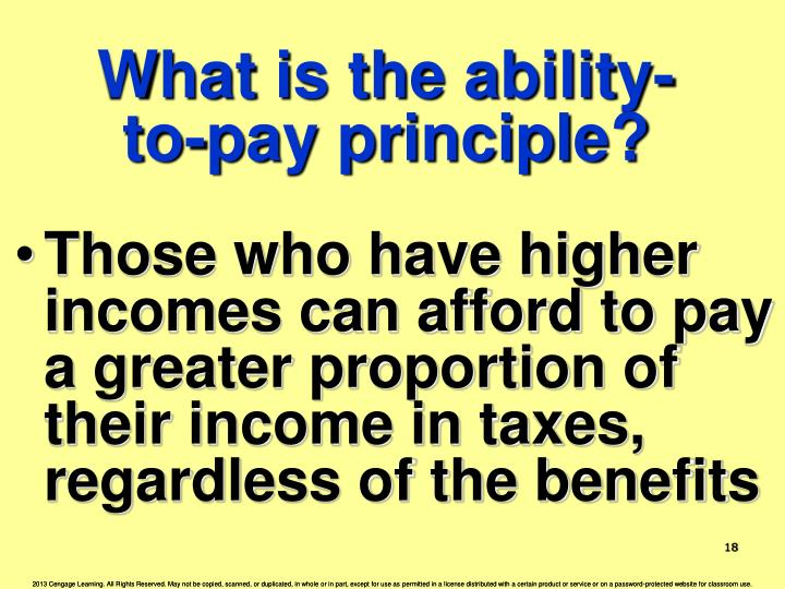 What is the ability-to-pay principle?