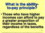 what is the ability to pay principle