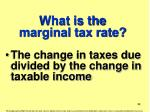 what is the marginal tax rate