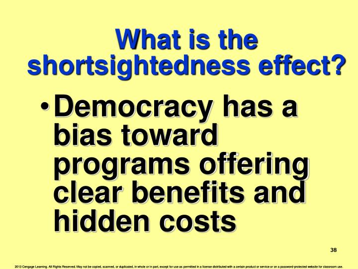 What is the shortsightedness effect?