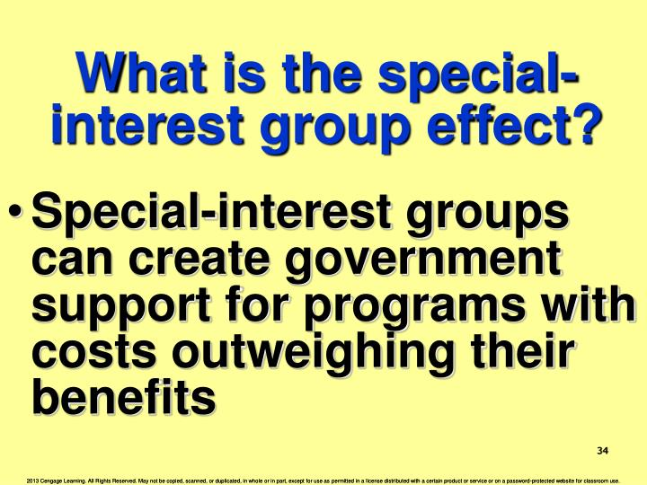 What is the special-interest group effect?
