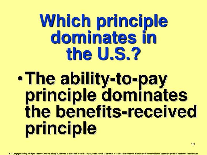 Which principle dominates in