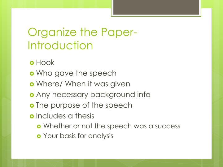 Organize the Paper- Introduction