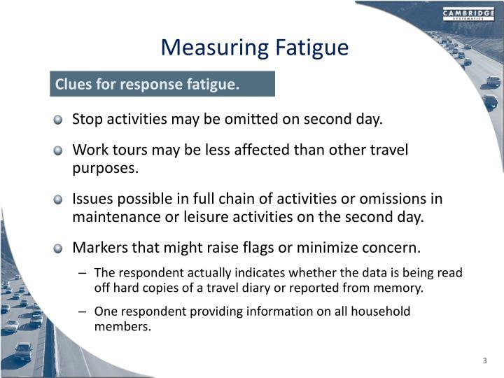 Measuring Fatigue