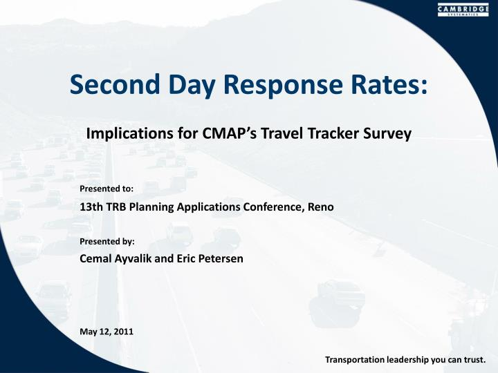 second day response rates