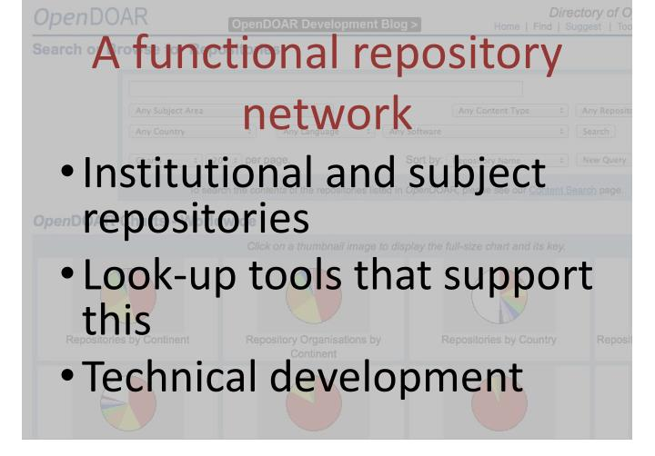A functional repository network