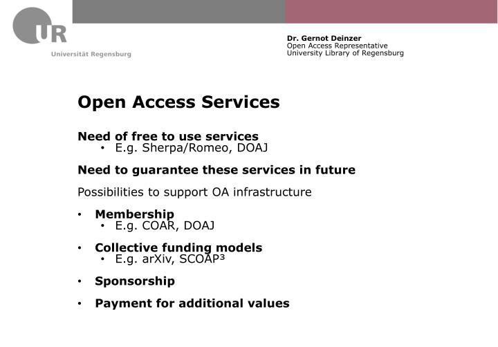 Open Access Services