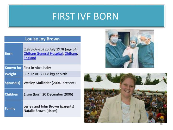FIRST IVF BORN