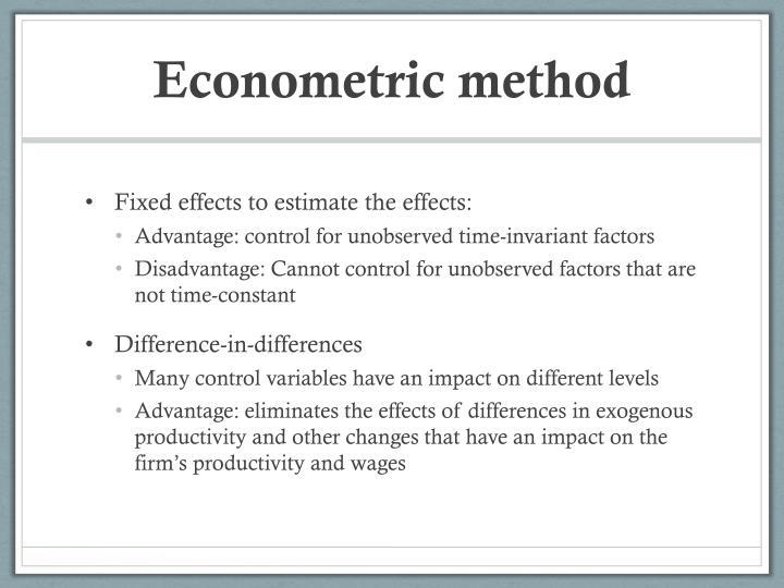Econometric method