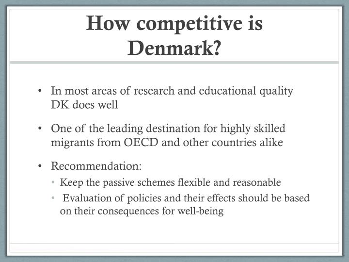 How competitive is Denmark?