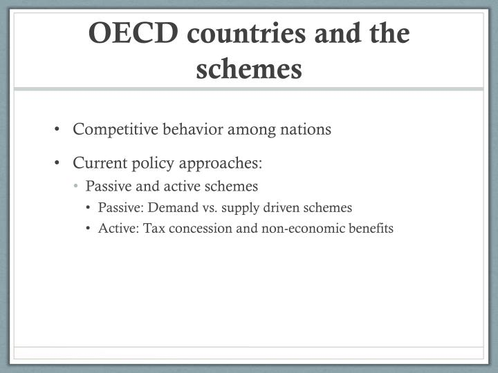 OECD countries and the schemes
