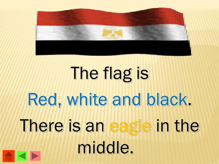 The flag is