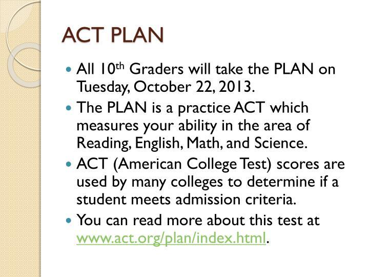ACT PLAN