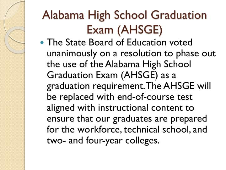 Alabama High School Graduation Exam (AHSGE)