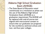 alabama high school graduation exam ahsge