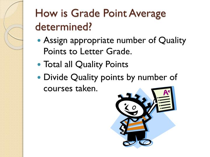 How is Grade Point Average determined?