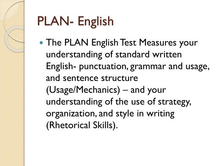 PLAN- English