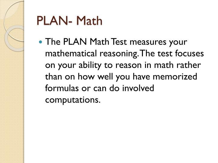 PLAN- Math