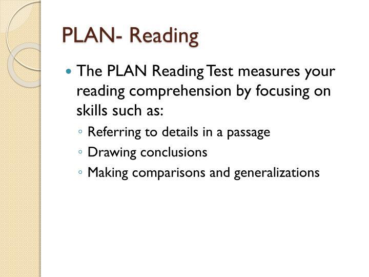 PLAN- Reading