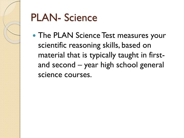 PLAN- Science