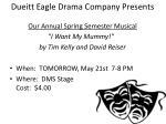 dueitt eagle drama company presents