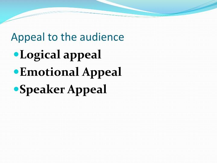 Appeal to the audience
