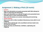 assignment 1 making a pitch 10 marks4