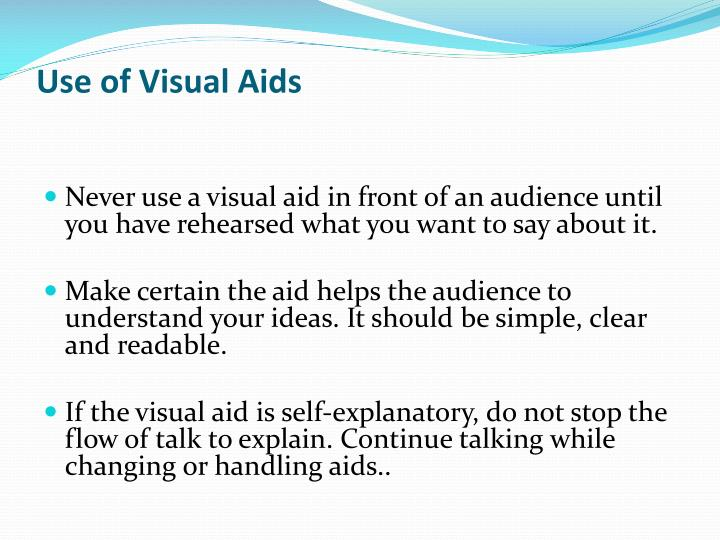 Use of Visual Aids
