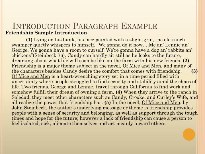 Introduction Paragraph Example