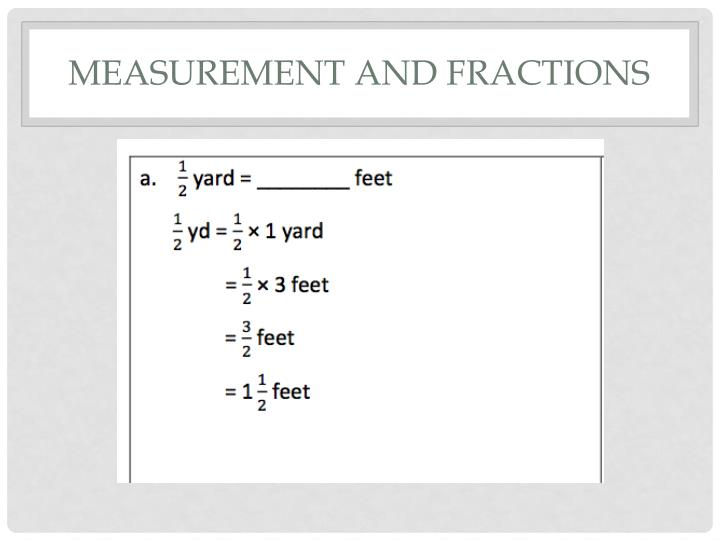 Measurement and Fractions