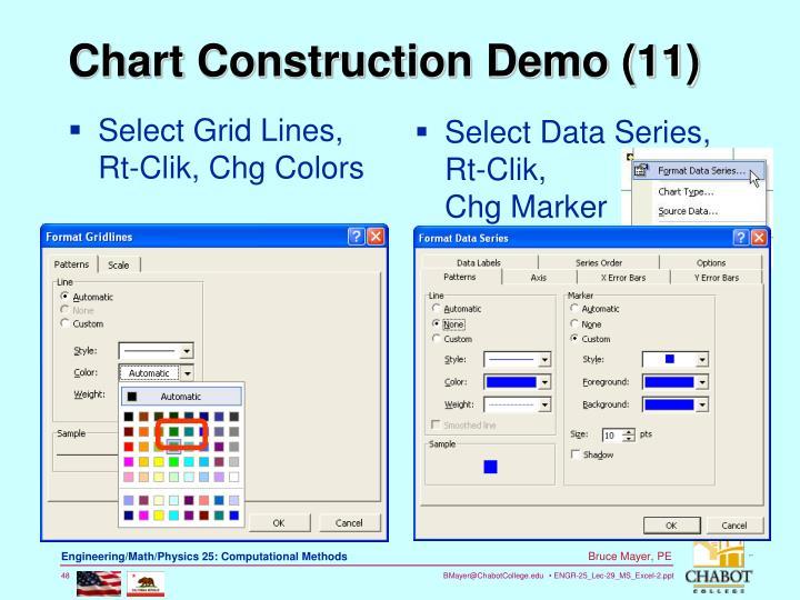 Select Grid Lines, Rt-Clik, Chg Colors