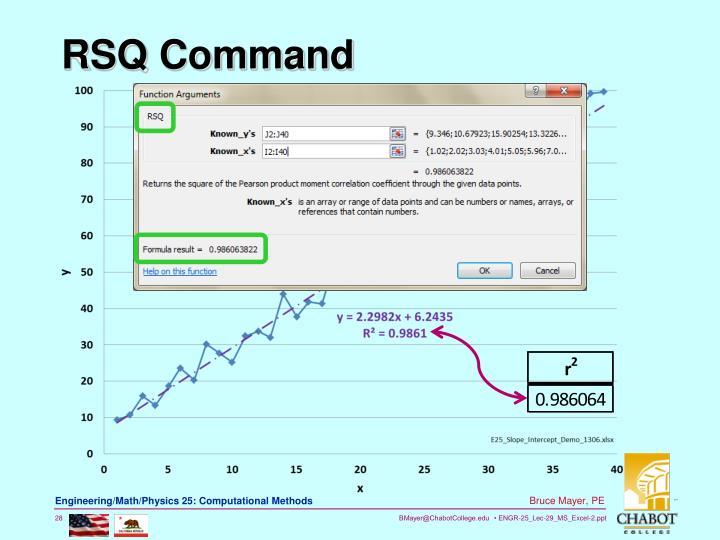 RSQ Command