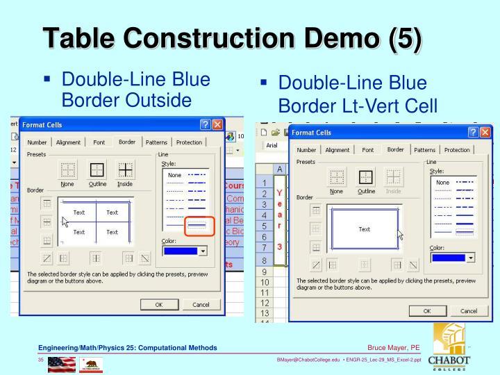 Double-Line Blue Border Outside