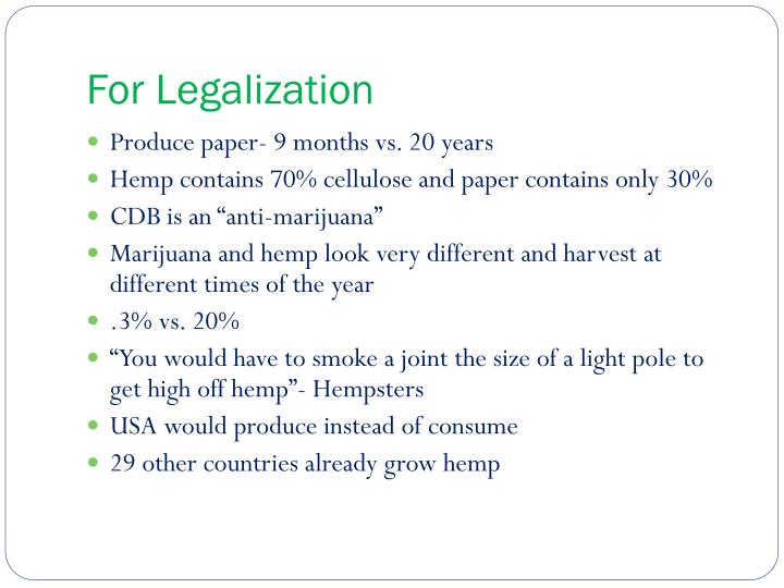For Legalization