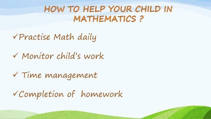 How To Help Your Child In Mathematics ?