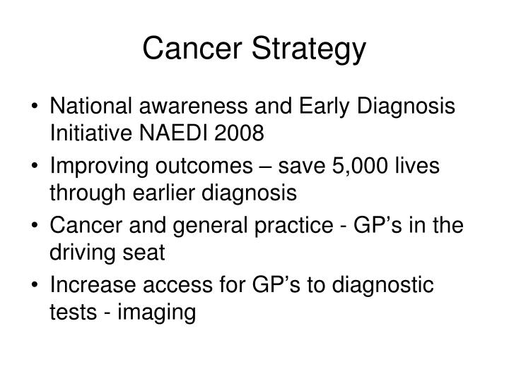 Cancer Strategy