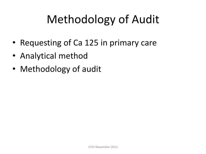 Methodology of Audit
