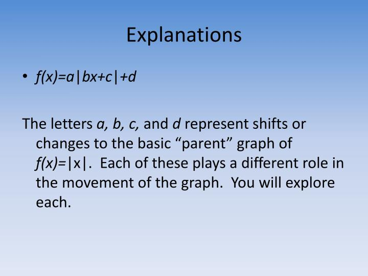 Explanations