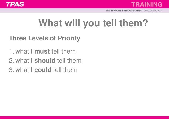 Three Levels of Priority