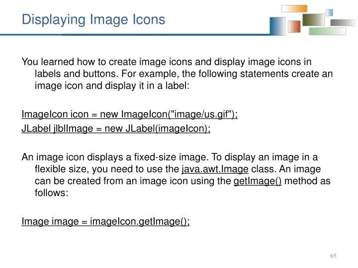 Displaying Image Icons
