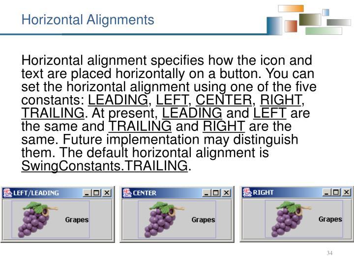 Horizontal Alignments