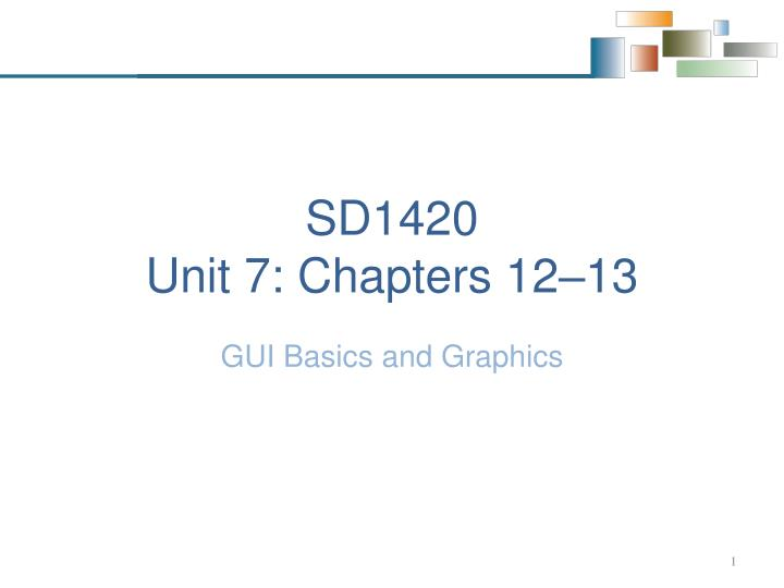 sd1420 unit 7 chapters 12 13
