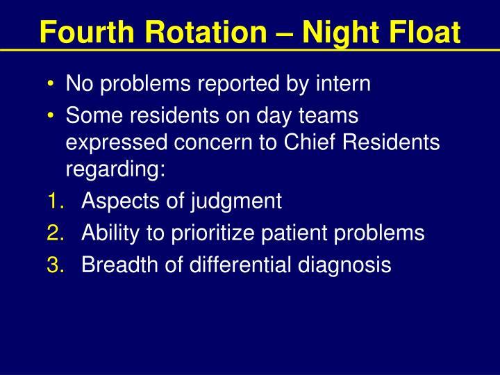 Fourth Rotation – Night Float