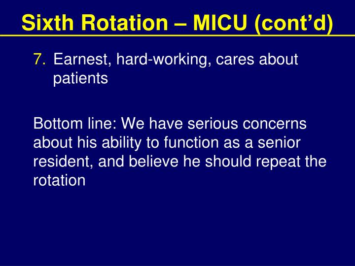 Sixth Rotation