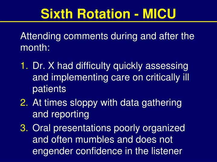 Sixth Rotation - MICU