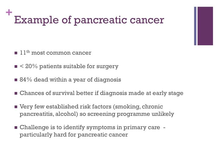 Example of pancreatic cancer
