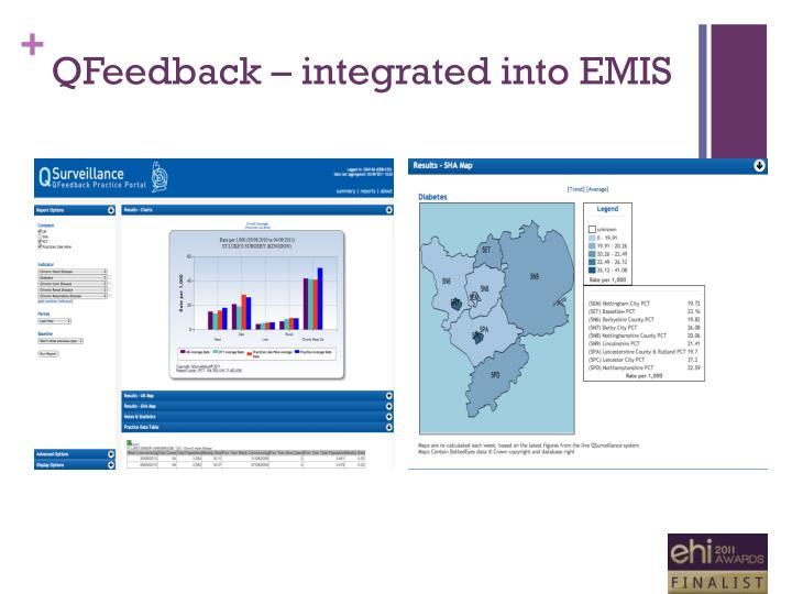 QFeedback – integrated into EMIS