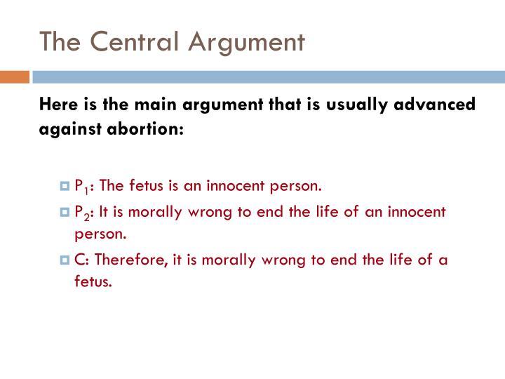 The Central Argument