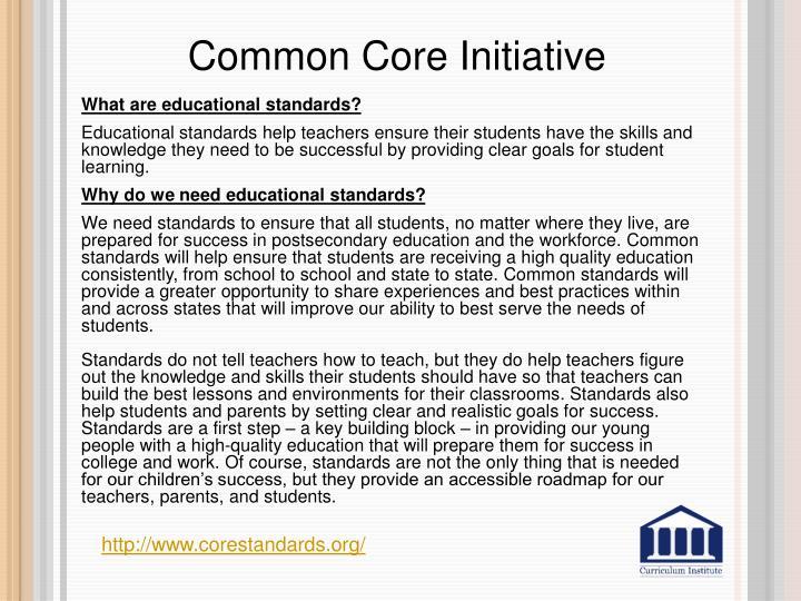Common Core Initiative