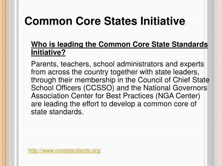 Common Core States Initiative